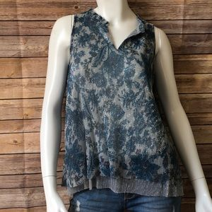 Anthropology Vanessa Virginia sheer sparkly top